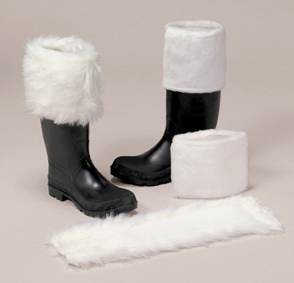 Plush Santa Boot Cuffs