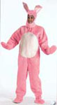 Pink Open Face Bunny Suit Costume