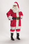 Deluxe Old-Fashioned Long Santa Suit