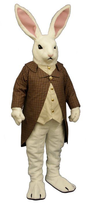 Herr Lapin Mascot Costume with Coat and Vest