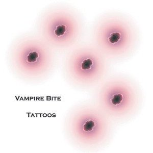 Vampire Bite Tattoos.  Very realistic