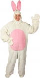 White Open Face Bunny Suit Costume